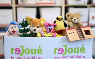 Le FAPE EDF collecte des jouets au profit du chantier d'insertion Rejoué !